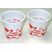 Valentine's Day Table Accessories Happy Valentine Plastic Cups Image