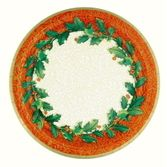 Christmas Table Accessories Holly Plates Image