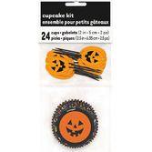 Halloween Table Accessories Pumpkin Cupcake Kit Image