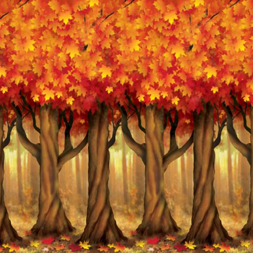 Decorations / Scenes & Props Fall Trees Backdrop Image