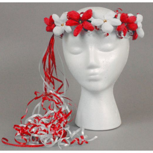 Cinco de Mayo Hats & Headwear Red and White Flower Crown Image