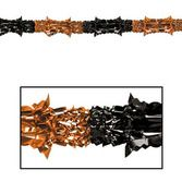 Halloween Decorations Orange-Black Metallic Garland Image