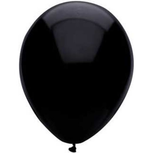 "New Years Balloons 11"" Pitch Black Balloons Image"
