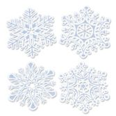Christmas Decorations Glittered Snowflake Cutouts Image