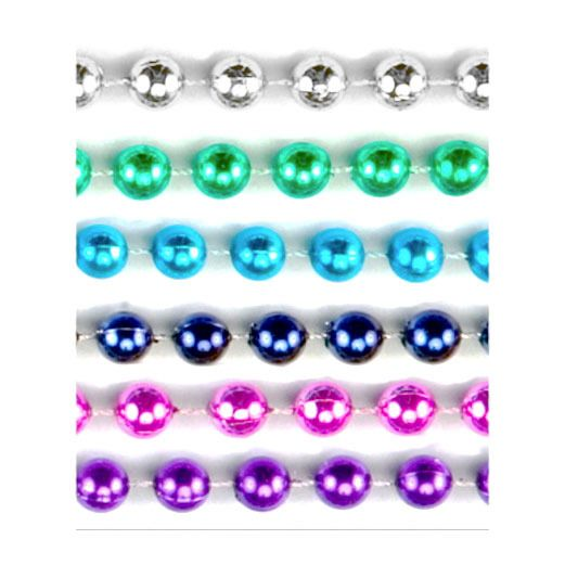 Cinco de Mayo Party Wear Assorted Color Metallic Bead Necklaces Image