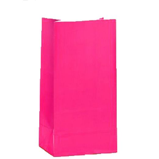 Valentine's Day Gift Bags & Paper Hot Pink Paper Sacks Image