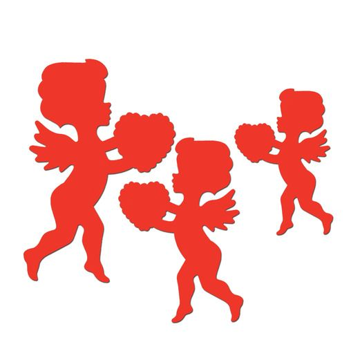 Valentine's Day Decorations Cupid Cutouts Image