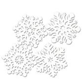 Christmas Decorations Die-Cut Snowflake Cutouts Image