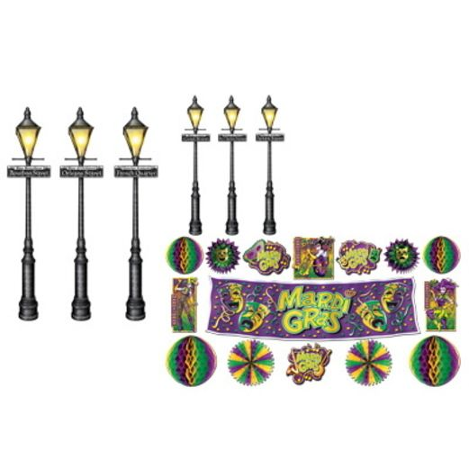 Mardi Gras Decor & Street Light Props