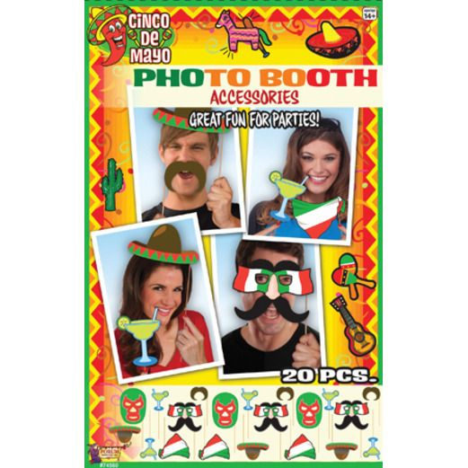 Cinco de Mayo Decorations Fiesta Photo Booth Set Image