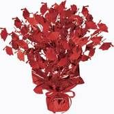 Graduation Decorations Red Graduation Cap Centerpiece Image