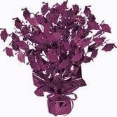 Graduation Decorations Purple Graduation Cap Centerpiece Image