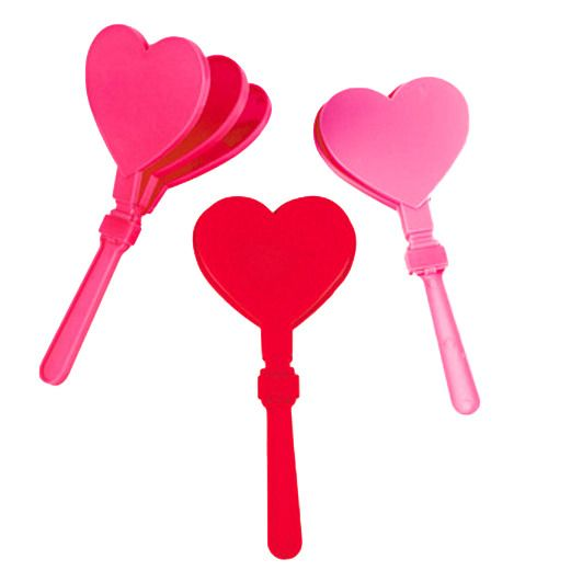 Valentine's Day Favors & Prizes Valentine Heart Clappers Image