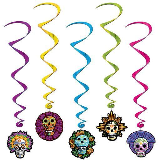 Day of the Dead Decorations Day of the Dead Whirls Image