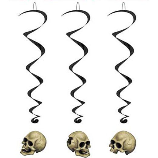 Halloween Decorations Skull Whirls Image