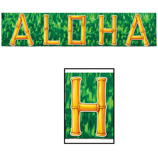 Luau Decorations Aloha Banner Image