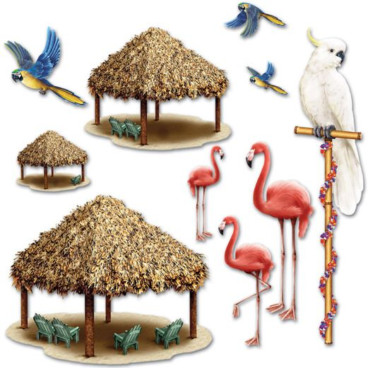 Luau Decorations Tiki Hut Props Image