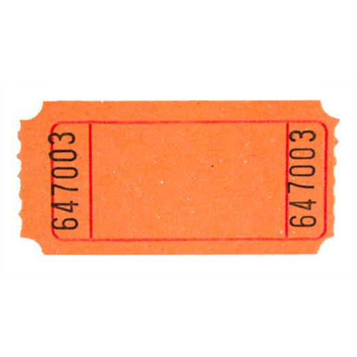 Tickets & Wristbands Orange Blank Ticket Roll Image