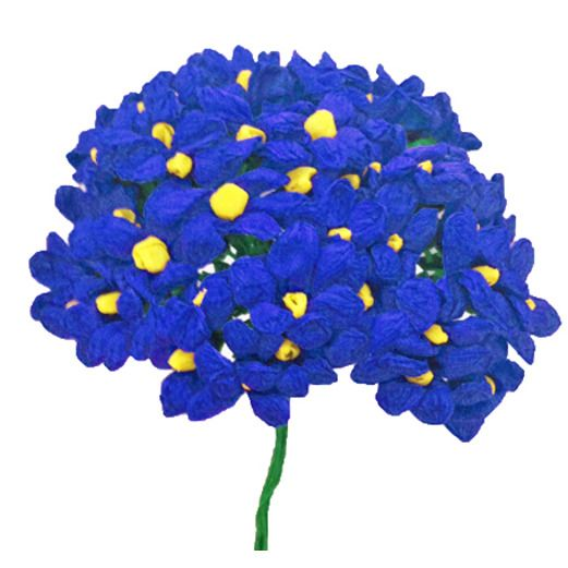 Fiesta Decorations Royal Blue Terecitas Flowers Image