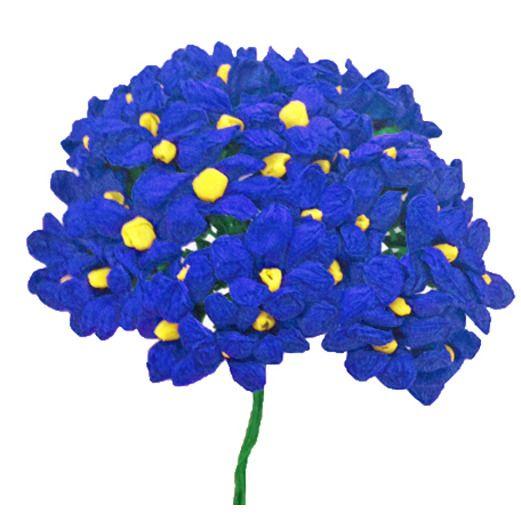 Fiesta Decorations Royal Blue Terecitas Flowers Image