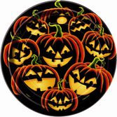 Halloween Table Accessories Pumpkin Grin Dessert Plates Image