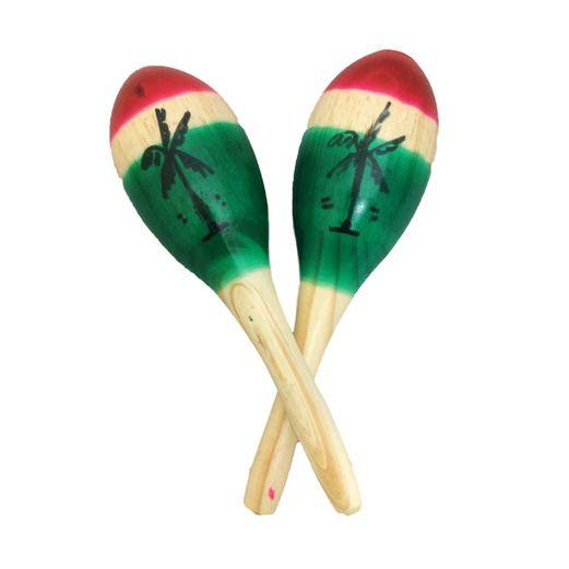 Tricolor Wooden Maracas