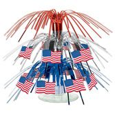 4th of July Decorations Mini American Flag Cascade Centerpiece Image