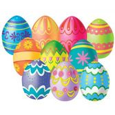 Easter Decorations Mini Easter Egg Cutouts Image