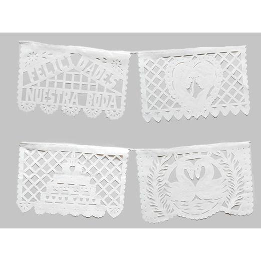 Medium Wedding Plastic Picado Image