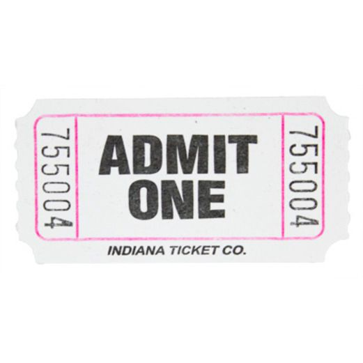 Tickets & Wristbands White Admit One Ticket Roll Image