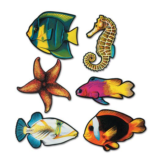 Luau Decorations Fish Cutouts Image