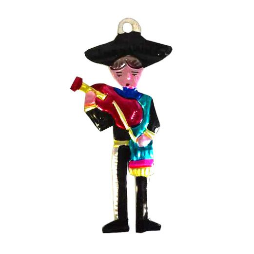 Mariachi Tin Ornament