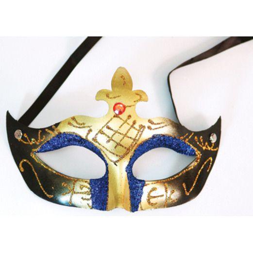 Mardi Gras Party Wear Plastic Mardi Gras Mask Image