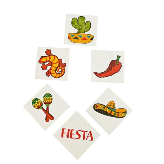 Fiesta Favors & Prizes Fiesta Tattoo Assortment Image