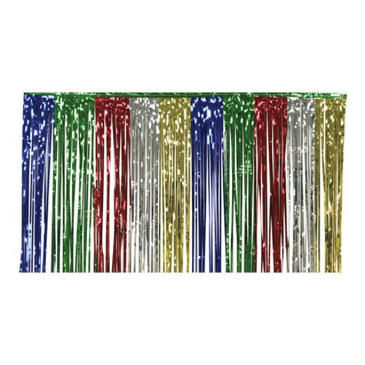 New Years Table Accessories Multicolor Metallic Fringe Table Skirt Image