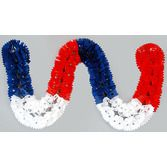 4th of July Decorations Red, White, and Blue Plastic Garland Image