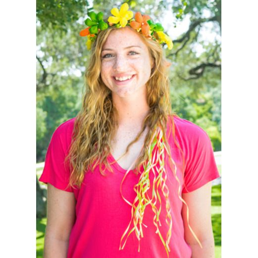 Cinco de Mayo Hats & Headwear Green, Orange, and Yellow Flower Crown Image