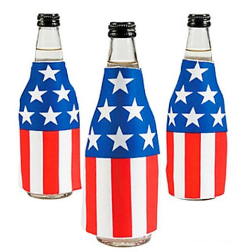 4th of July Favors & Prizes American Flag Bottle Covers Image