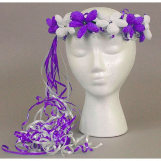 Cinco de Mayo Hats & Headwear Purple and White Flower Crown Image