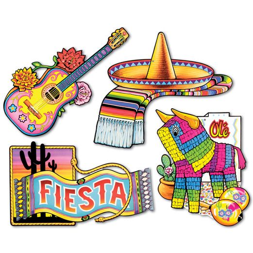 Cinco de Mayo Decorations Fiesta Cutouts Image