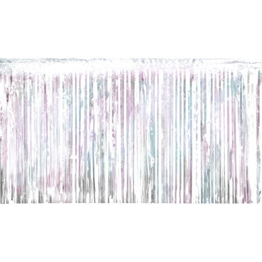 Wedding Decorations Iridescent Metallic Fringe Drape Image