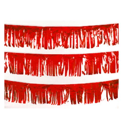 Decorations Red Metallic Fringe Image