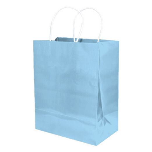 Baby Shower Gift Bags & Paper Medium Gift Bag Light Blue Image