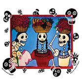 Day of the Dead Favors & Prizes Market Ladies Sticker Image