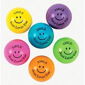 "Easter Favors & Prizes ""Jesus Loves You"" Bouncy Balls Image"