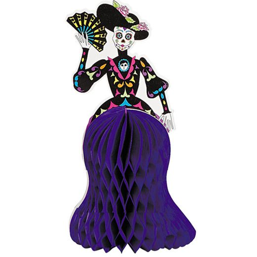 Day of the Dead Decorations Day of the Dead Catrina Skeleton Centerpiece Image