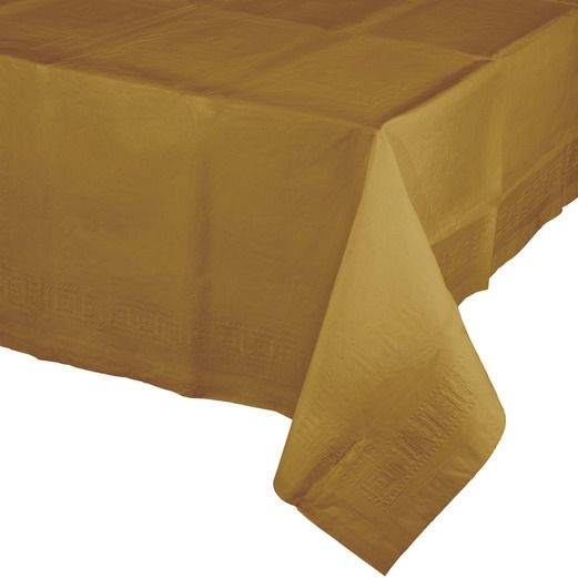 Anniversary Table Accessories Rectangular Table Cover Metallic Gold Image