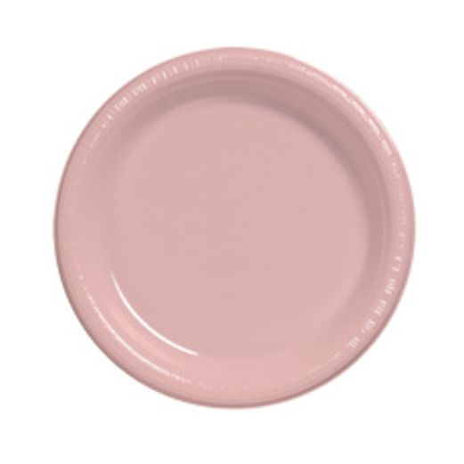 Baby Shower Table Accessories Pink Dessert Plates Image