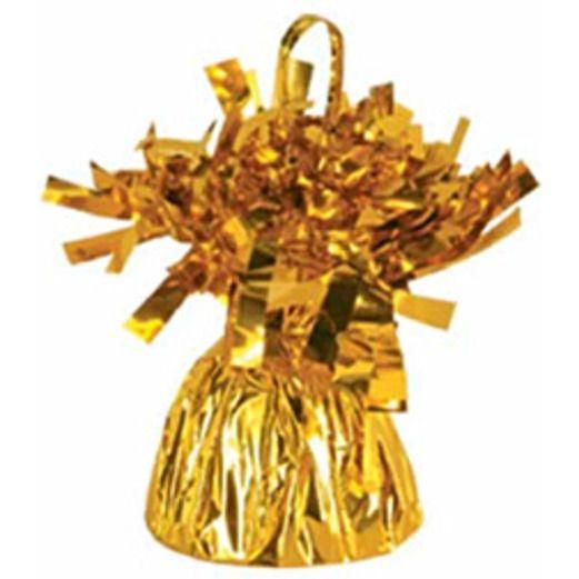 New Years Balloons Gold Metallic Balloon Weight Image
