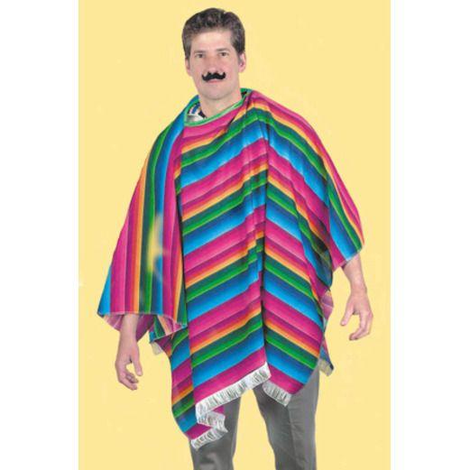 Cinco de Mayo Party Wear Polyester Serape Poncho Image